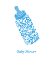 Baby bottle vector
