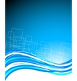 Abstract blue bright template vector
