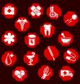 Grunge medical buttons vector