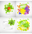 Backgrounds with glass and blots vector