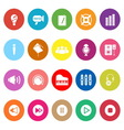 Music flat icons on white background vector