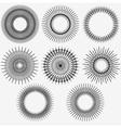 Radial circle elements set 002 vector