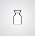 Drugs outline symbol dark on white background logo vector