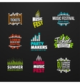 Second big set music equalizer logotype vector