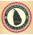 Vintage label-sticker cards of sri lanka vector