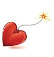 Heart love bomb vector
