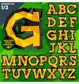 Crumpled paper alphabet vector