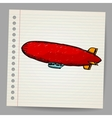Dirigible doodle style vector