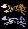 Wolf head tattoo on a black background vector