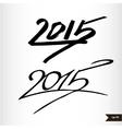 Happy new year handwritten calligraphic watercolor vector
