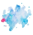 Abstract watercolor aquarelle hand drawn colorful vector