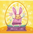 Easter bunny inside of snowdrop vector