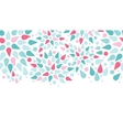 Abstract colorful drops horizontal seamless vector