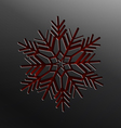 Christmas snowflake cut of paper vector