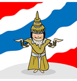 Welcome to thailand people vector