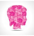 Creative female face of message bubble st vector