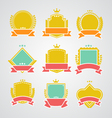Set of flat badges and ribbons vector
