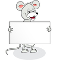 Mouse with blank sign vector