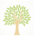 Stylized tree with green leaves vector