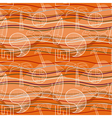 Abstract seamless pattern with stylized vector
