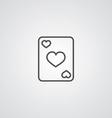 Poker outline symbol dark on white background logo vector