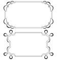 Two vintage horizontal frame set vector