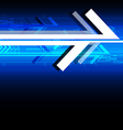 Abstract arrow technology background vector