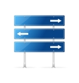 Blank traffic sign with white arrow vector