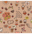 Pattern love in red vector
