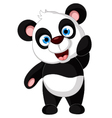 Panda cartoon posing vector
