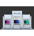 Exhibition stand vector