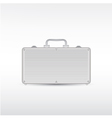 Silver metal briefcase vector
