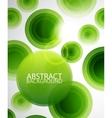 Green circles background vector