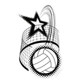 Volleyball sport design element vector
