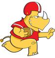 Cartoon football rhino vector
