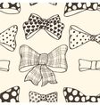 Set of bows hand drawn vector
