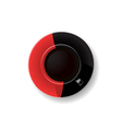 Red and black coffee cup vector