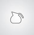 Teapot outline symbol dark on white background vector