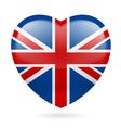 Heart icon of united kingdom vector