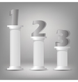 Greek columns vector
