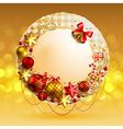 Christmas vintage bubble vector