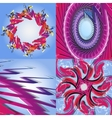 Set of abstract modern wave colorful background vector