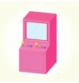 Arcade machine cabinet isolated vector
