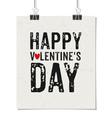 Happy valentines day vintage design poster vector