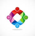 Circular geometry color teamwork logo vector