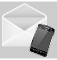 Envelope and smartphone vector
