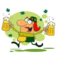 St patricks day leprechaun cartoon vector