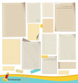Collection of various note papers ready for your vector