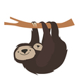 Cute sloth family vector