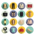 Business woman clothes icons set vector